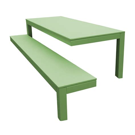 collection 010 outdoor table and bench by
