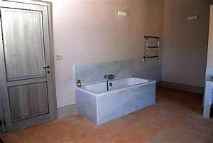 Rivestimento con piastrelle cotto smaltato fatto a mano per bagno