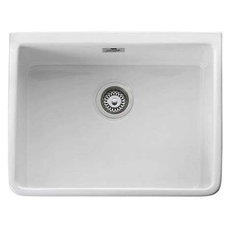 kitchen sinks ceramic uk leisure belfast cbl595wh ceramic single bowl sink 6066