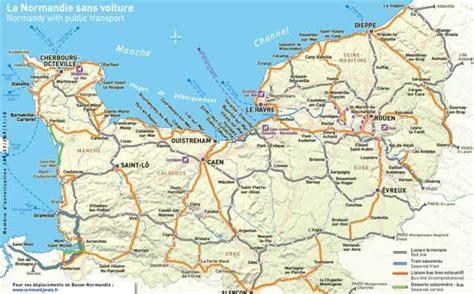 Carte De Normandie Detaillee by Carte De Voyages Cartes