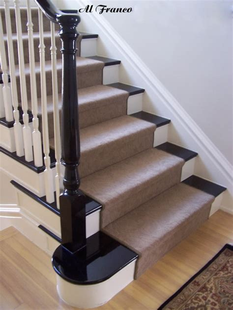 maple stair railing traditional staircase denver