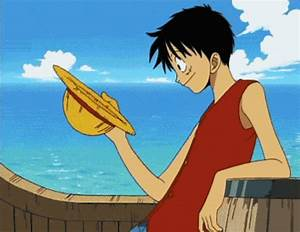 Luffy Straw Hat GIFs - Get the best GIF on GIPHY
