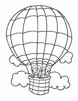 Balloon Coloring Air Pages Balloons Template Parachute Printable Popular Getcolorings sketch template