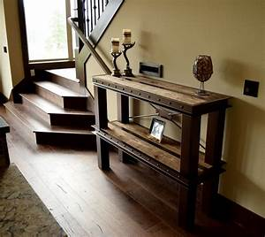 Handmade, Metal, And, Wood, Custom, Entry, Tables, By, Industrial, Pdx