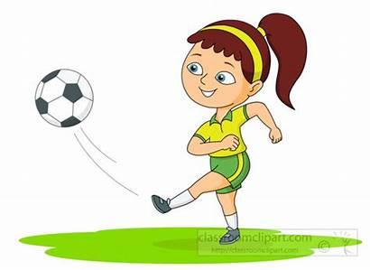 Kick Soccer Clipart Ball Playing Kicks Clip