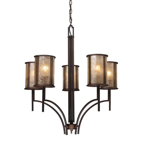 Mica Chandelier by Five Light Chandelier With Mica Shades 15035 5