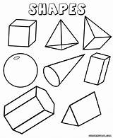 Shapes Geometric Coloring Pages Print Colorings sketch template