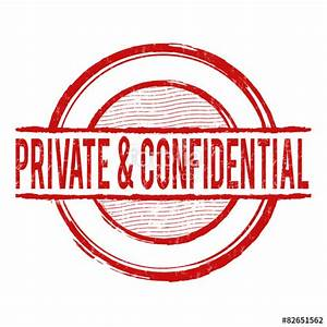 """Private and confidential stamp"" Stock image and royalty ..."
