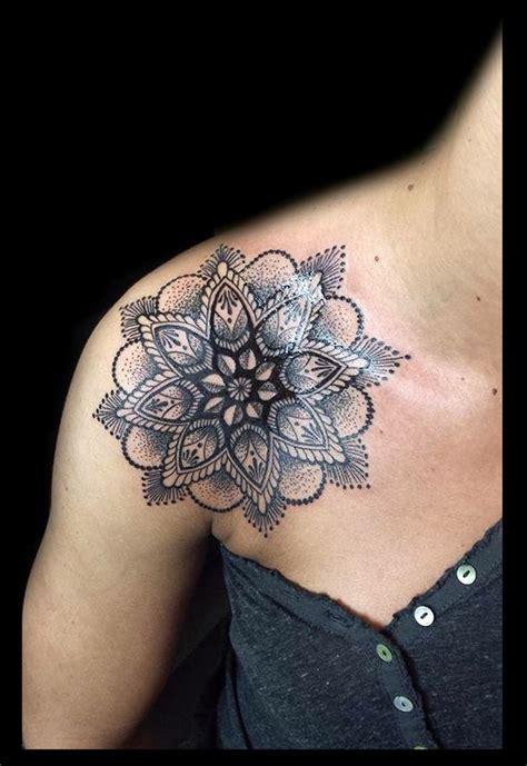 ideas  mandala tattoo shoulder  pinterest