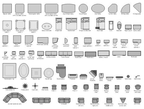 Office Desk Visio Stencils by Furniture Vector Stencils Library Design Elements