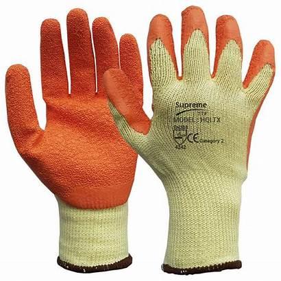 Gloves Rubber Latex Coated Pair Medium