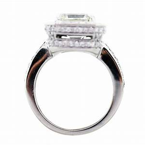 4 carat emerald cut diamond platinum engagement ring in With 4 carat wedding rings