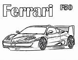 Ferrari Coloring Pages F50 458 Cars Drawing Printable Enzo Sheets Getcolorings Print Pag sketch template