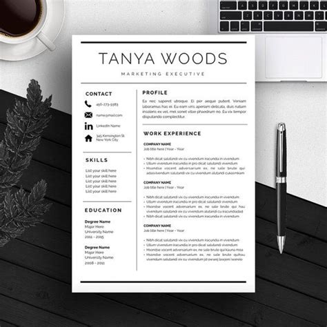 14914 modern business resume professional resume template cv template cover letter