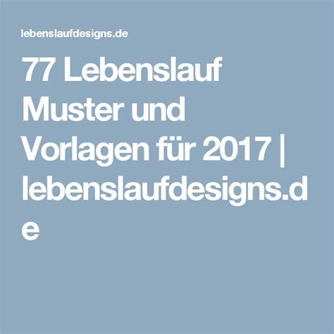 Lebenslauf 2017 Muster by 77 Lebenslauf Muster Und Vorlagen F 252 R 2017