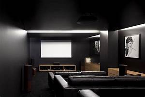 Home design 81 charming small media room ideass for Kitchen colors with white cabinets with movie theater wall art