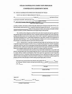 texas cooperative agreement surety bond With suretyship agreement template