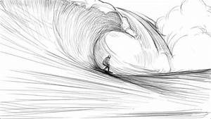 How To Draw A Wave - YouTube