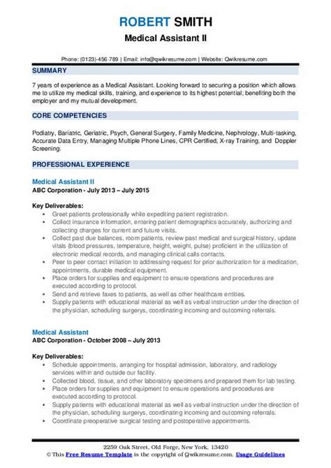 Resume Assistance by Assistant Resume Sles Qwikresume