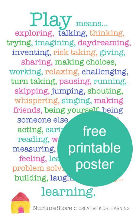 why is play important printable poster free printable 852   d151eb30116edc3fde732cb96b882876 playbased learning play based learning kindergarten