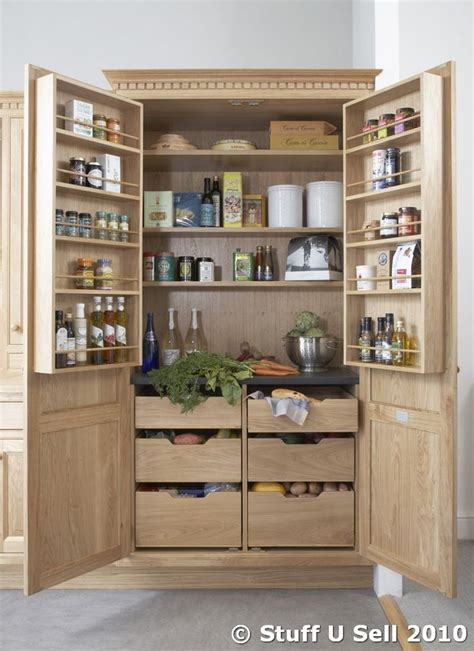 Kitchen Storage Units  Nfc Oak Kitchen Larder Storage