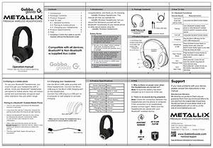 Metallix Wireless Headphones User Manual And Faqs