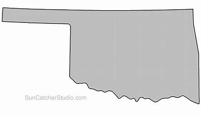 Outline State Oklahoma Shape Map Pattern Printable