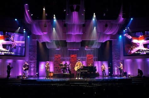 stage lighting design the softer side church stage design ideas