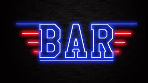 neon bar lights top gun neon sign liberty