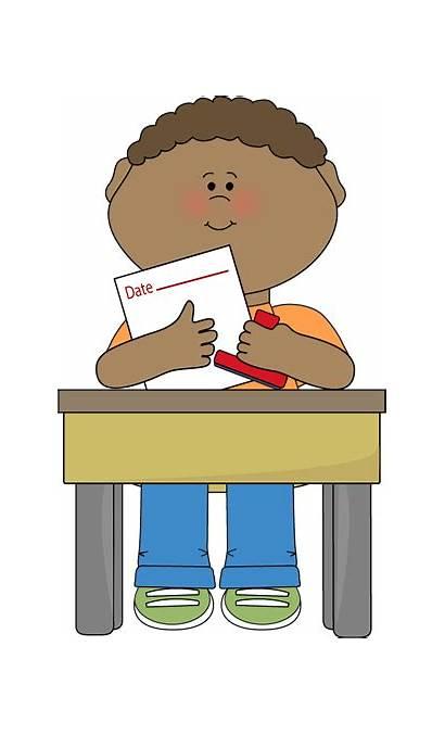 Classroom Clipart Job Desk Clip Student Teacher