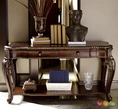 gables  drawer antique cherry console table  carved