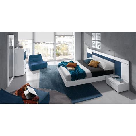 chambre à coucher blanche chambre à coucher design blanche et bleu 6 éléments cbc