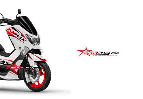 Striping Nmax Putih Minimalis by Modifikasi Striping Yamaha Nmax Terbaru