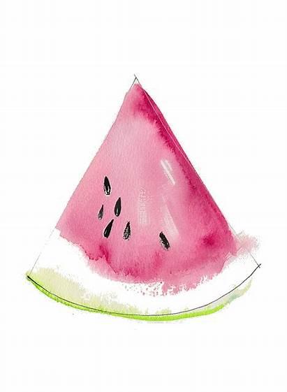 Watercolor Watermelon Watercolour Simple Colored Paintings Soul