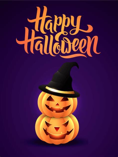 twin halloween pumpkin card birthday greeting cards