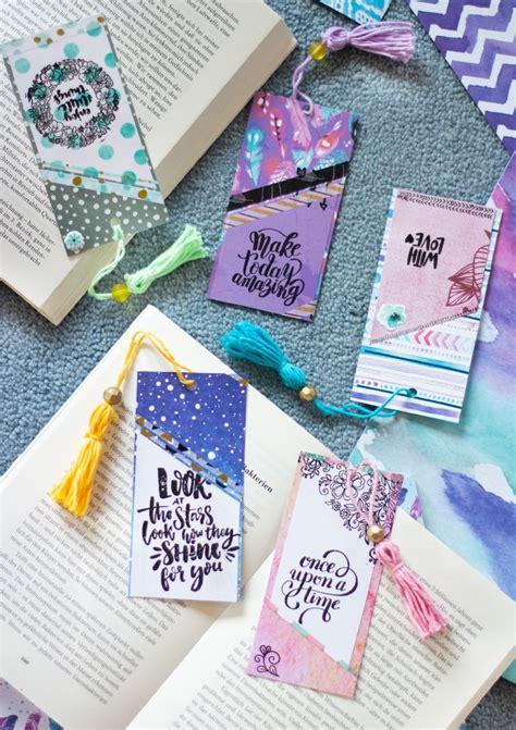 quick diy papier lesezeichen huebsch gestalten kreativas diy saisonale deko papier