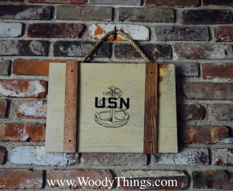 Military Wooden Signs