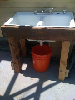 outdoor sink  water recycling simple root simple