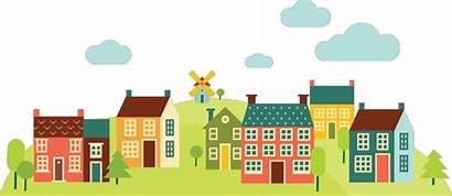 Neighborhood Community Suburban Clipart Revitalization Housing Transparent