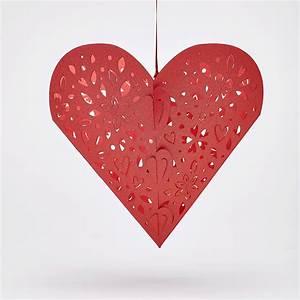 Valentines Hanging Heart Pendants  Heart