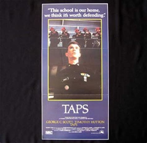 timothy hutton military school movie taps daybill movie poster 1981 timothy hutton tom cruise