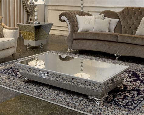 Some examples from the web: Mirrored Coffee Table Tray | Roy Home Design