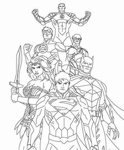 Coloring Pages Printable Justice League Superman Superhero