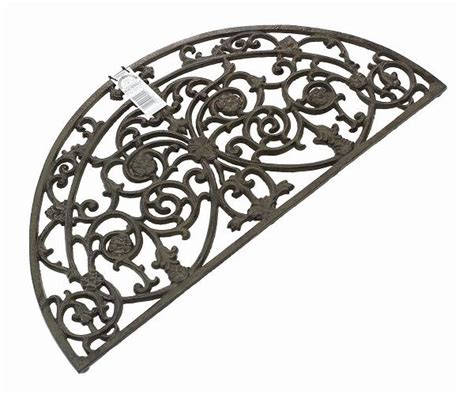 cast iron doormat gardman cast iron burghley half moon door mat outdoor ebay