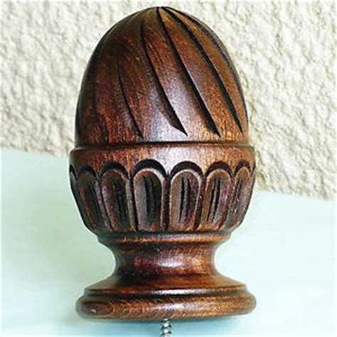 new large 6 quot spiral wooden finial for furniture post bed