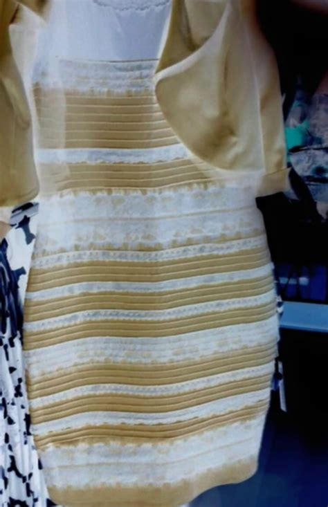 what color is the dress the black and blue white and gold dress finally explained