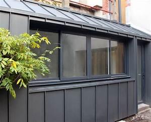 extension en zinc fenetre coulissante 4 pans bardage With awesome maison toit en verre 2 idee agrandissement maison 50 extensions esthetiques