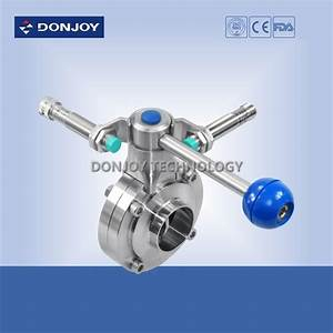 China Sanitary Ss 304 Manual Pull Handle Butterfly Valve