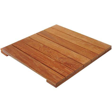 cumaru 2 ft x 2 ft wood deck tile 217141 the home depot