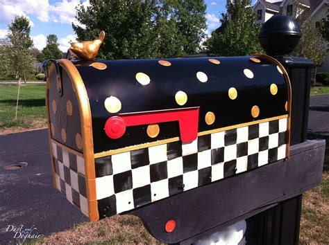 Decorated Mailboxes - a new decorative mailbox dustanddoghair